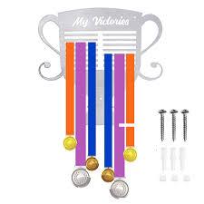 <b>Hot Medals</b> Holder 50+ <b>Medals</b> Hanger Trophy shape Display rack ...
