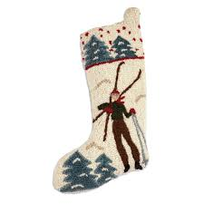 cabin decor lodge sled:  back to the lodge christmas stocking