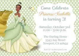 tiana invitation princess the frog invitation tiana disney princess kid s birthday party invite birthday invitation