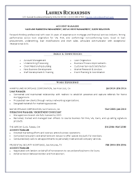 account manager resumefree resume templates