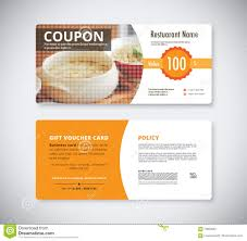 restaurant coupon flyer template stock photos images pictures gift coupon voucher template for restaurant flyer brochure vect stock photos