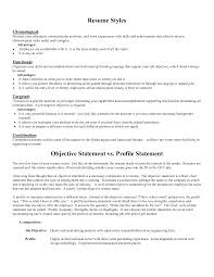 resume objective statement examples