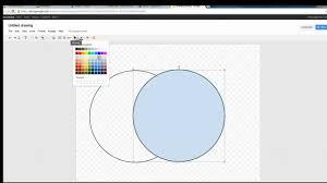 creating a venn diagram in google draw   youtubecreating a venn diagram in google draw