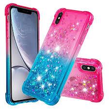 <b>Rainbow Gradient</b> Liquid Glitter Quicksand Sequins Phone Case <b>for</b> ...