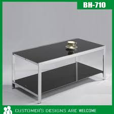Black Tempered Glass <b>Coffee Table</b>(BH-711)