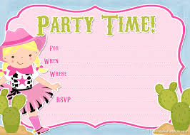 printable cowgirl party invitation from printable cowgirl party invitation from printablepartyinvitations pot com