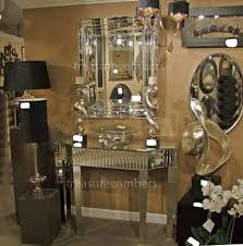 hollywood regency mirrored console regency venetian mirrored console table art deco mirror chic ebay art deco mirrored furniture
