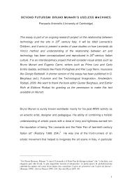 academic paper beyond futurism bruno munari s useless machines