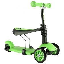 <b>Glider 3 в</b> 1 <b>Самокат</b> детский трехколесный зеленый 100072 ...