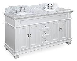 bathroom vanity 60 inch: elizabeth  inch double bathroom vanity carrara white includes white cabinet