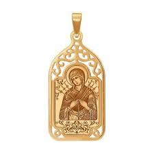 «Семистрельная <b>икона Божьей</b> Матери» из золота SOKOLOV ...