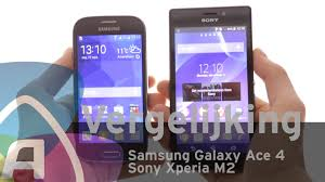 Samsung Galaxy Ace 4 vs Sony Xperia M2 review (Dutch) - YouTube