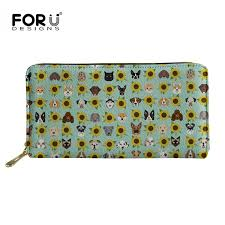 <b>FORUDESIGNS Women Wallet Long</b> Dogs and Cats Heads ...