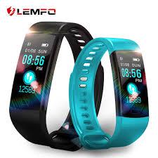 <b>Lemfo</b> 스마트 시계 피트니스 팔찌 심박수 모니터 ip67 방수 컬러 ...