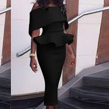 <b>Fengguilai</b> Dress 2018 Women <b>Sexy</b> Slim Package Hip Ruffles ...
