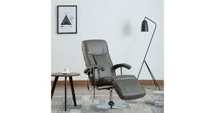 <b>Massage Chair</b> Cream <b>Grey Faux</b> Leather - Matt Blatt