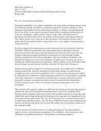 personal responsibility essay  wwwgxartorg personal responsibility rough draftmarcellus anderson jr may week two individual assignment personal responsibility essay