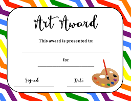 best ideas about printable certificates art award certificate printable