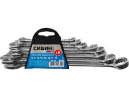 <b>Набор</b> комбинированных гаечных <b>ключей СИБИН</b> 8 шт, <b>6</b> - 19 мм ...