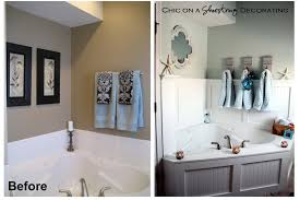 image bathtub decor: on a shoestring before aftermasterbath on a shoestring