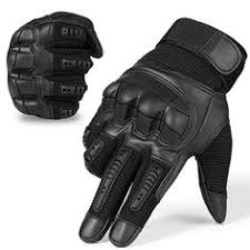 <b>Touchscreen</b> Leather <b>Motorcycle Skidproof</b> Hard Knuckle Full Finger ...
