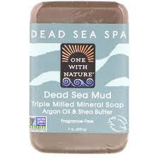 One with Nature, <b>Triple Milled Mineral</b> Soap Bar, Dead Sea Mud, 7 oz
