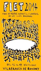 Gran presència de companyies de la TTP a la FIET 2014 (XII Fira de teatre infantil i juvenil de les Illes Balears)