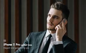 LOHASIC iPhone 11 Pro Case, Slim <b>Business</b> PU <b>Leather</b>