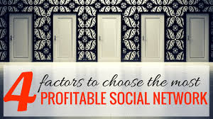 4 Factors To Choose The Most Profitable Social media Network for ...