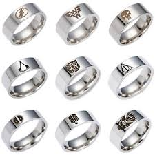 <b>New</b> Men's Stainless <b>Steel Ring</b> TV play Movie Super-hero <b>Titanium</b> ...
