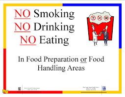 food safety posters no smoking no drinking no eating