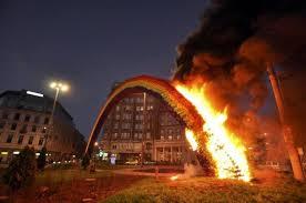 Burning <b>down</b> a <b>rainbow</b> in Poland | | Al Jazeera