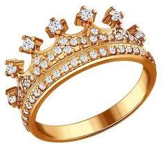 <b>SOKOLOV</b> Серебряное <b>позолоченное кольцо</b> в форме <b>короны</b> ...