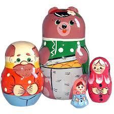 """<b>Матрешка</b> """"<b>Русские народные</b> игрушки"""" - Маша и Медведь, из 4 ..."""