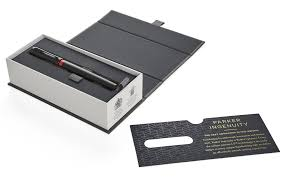 <b>Ручка Parker</b> Ingenuity Deluxe F504 Black Red PVD (1972069)