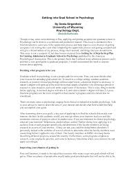 personal statement sample essays for graduate school