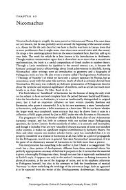 nicomachus university publishing online his essay was evidently an elaborate presentation of pythagorean theories about the symbolic and mystical significance of numbers such as are set out much
