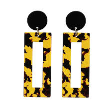 Charmsmic <b>Leopard</b> Print Geometric Drop <b>Earrings</b> Women ...