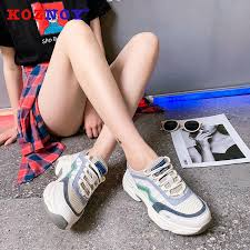 <b>Koznoy Sneaker Women Spring</b> Autumn Muffin Bottom Fashion ...