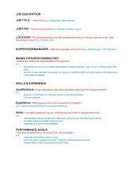job description templates examples template s job description template 03