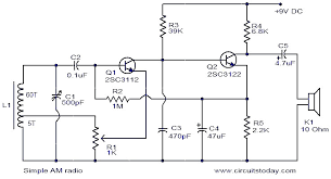 easy schematic diagram also fm radio receiver circuit diagram    simple am radio circuit diagram on easy schematic diagram