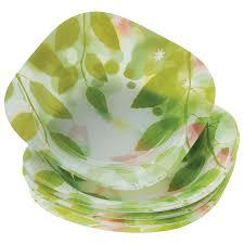 Купить <b>Набор тарелок</b>, 18 шт., цветное стекло, с рисунком ...