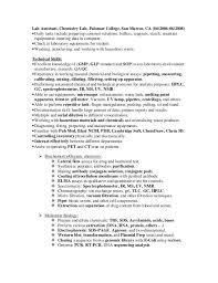 medical laboratory technician resume sample  lab technician resume    cover letter lab