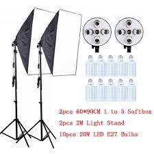 "Professional <b>60x90cm</b>/<b>24x35</b>"" <b>5 in</b> 1 Socket Camera Softbox Kit With ..."