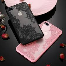 Acylic Lace <b>Flowers Hollow TPU</b> and Back Phone Case for iPhone 7 ...