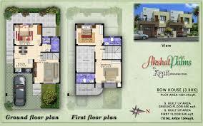 Kruti Infrastructure   SolapurAkshat Palms   Floor Plan  BHK Row House