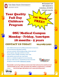 new full day childcare program first week nisonger center new full day childcare program first week