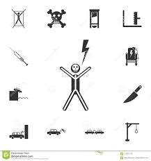 <b>Shock Electric</b> Icon. Detailed Set Of Death Icons. <b>Premium Quality</b> ...