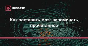 Как заставить мозг <b>запоминать</b> прочитанное | Rusbase