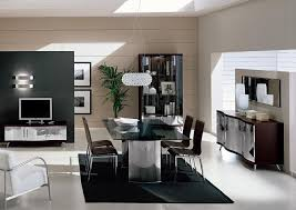 dining table parson chairs interior: elegant glass top dining table by vig furniture with cozy parson dining chairs and black shag